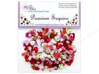 craft & hobbies: Buttons Galore 28 Lilac Lane Premium Sequins Valentine
