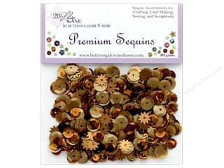 Buttons Galore 28 Lilac Lane Premium Sequins Rusty