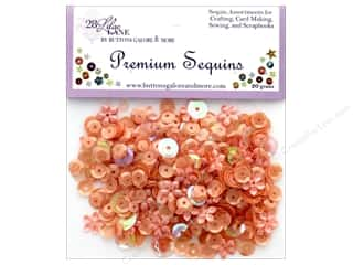 craft & hobbies: Buttons Galore 28 Lilac Lane Premium Sequins Apricot