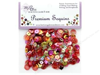 craft & hobbies: Buttons Galore 28 Lilac Lane Premium Sequins Coral