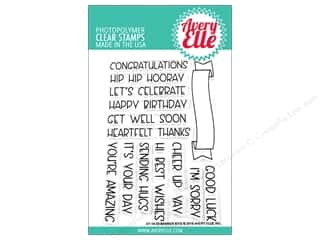 scrapbooking & paper crafts: Avery Elle Clear Stamp Banner Bits