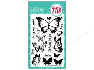 stamp cleaned: Avery Elle Clear Stamp Butterflies