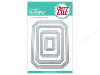 rectangle die: Avery Elle Die Elle-Ments Pierced Mat