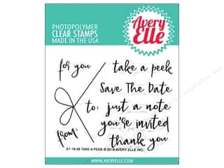 invited stamp: Avery Elle Clear Stamp Take A Peek