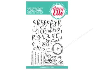 stamp cleaned: Avery Elle Clear Stamp Modern Calligraphy