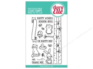 stamp cleaned: Avery Elle Clear Stamp Woodland Wonders