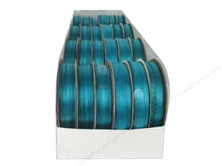 Offray Spool-O-Ribbon Double Face Satin Tornado Blue (24 spools)