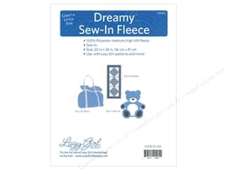 sewing & quilting: Lazy Girl Dreamy Fleece 22 in. x 36 in. Sew In