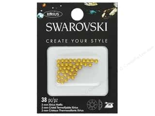 beading & jewelry making supplies: Cousin Swarovski Hotfix 3 mm Sunflower 38 pc