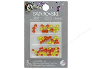 beading & jewelry making supplies: Cousin Swarovski Flatback Mix Sun Citrine 80pc