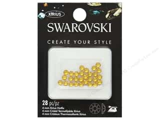 beading & jewelry making supplies: Cousin Swarovski Hotfix 4 mm Sunflower 28 pc