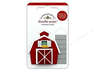 Doodlebug Collection Down On The Farm Doodle Pops Red Barn