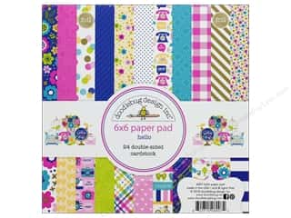 Doodlebug Collection Hello Paper Pad 6 in. x 6 in.