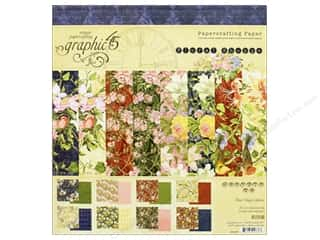 Graphic 45: Graphic 45 Collection Floral Shoppe Paper Pad 8 in. x 8 in.