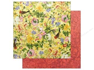 Graphic 45 Collection Floral Shoppe Paper 12 in. x 12 in. Golden Serenity Picture