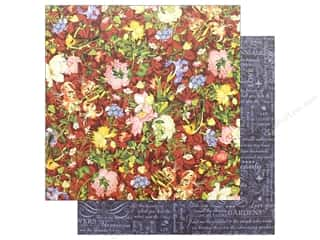 floral & garden: Graphic 45 Collection Floral Shoppe Paper 12 in. x 12 in. Scarlet Serenity (25 pieces)