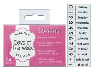 Contact USA Clickable Stamp Set Planner Details Days/Weeks 24 pc