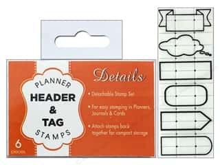 Contact USA Clickable Stamp Set Details Header & Tag 6 pc