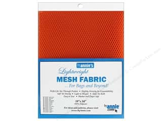 By Annie Lightweight Mesh Fabric 18 x 54 in. Pumpkin