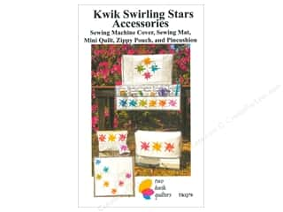 Two Kwik Quilters Kwik Swirling Star Accessories Pattern