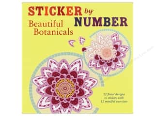 St Martin's Griffin Sticker By Number Beautiful Botanicals Book