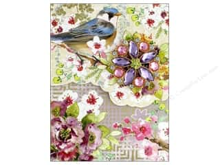 decorative bird: Punch Studio Note Pad Mini Brooch Blue Bird
