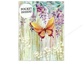 Punch Studio Note Pad Inside Pocket Butterfly