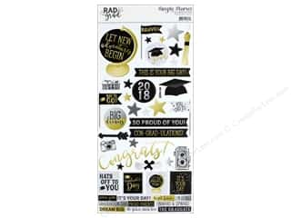 scrapbooking & paper crafts: Simple Stories Collection Rad Grad Sticker 6 in. x 12 in. (12 pieces)