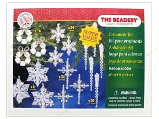 beading & jewelry making supplies: Beadery Craft Kit Ornament Christmas Crystal Collection