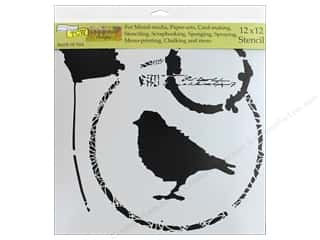The Crafter's Workshop Stencil 12 in. x 12 in. Thoughtful Bird