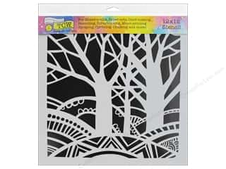 The Crafter's Workshop Stencil 12 in. x 12 in. Tree Paradise