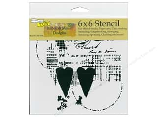scrapbooking & paper crafts: The Crafter's Workshop Stencil 6 in. x 6 in. Two Hearts