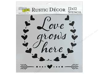 heart wreath: The Crafter's Workshop Stencil 12 in. x 12 in. Love Grows