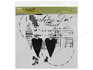 scrapbooking & paper crafts: The Crafter's Workshop Stencil 12 in. x 12 in. Two Hearts