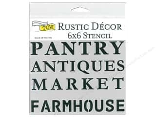 The Crafter's Workshop Stencil 6 in. x 6 in. Rustic Signs