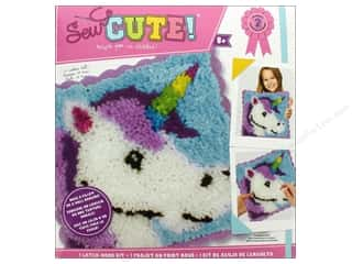 projects & kits: Colorbok Sew Cute! Latch Hook Kit - Unicorn