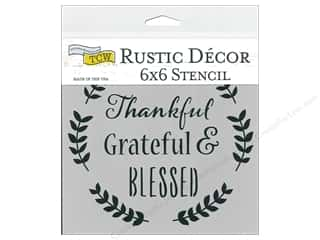 scrapbooking & paper crafts: The Crafter's Workshop Stencil 6 in. x 6 in. Thankful