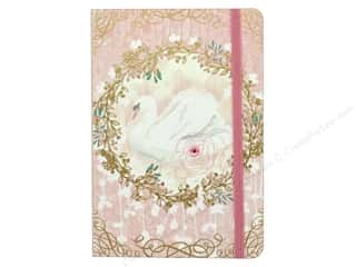 elastic: Punch Studio Journal Soft Cover Bungee Swan