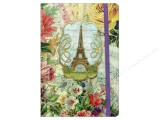 elastic: Punch Studio Journal Soft Cover Bungee Eiffel Tower
