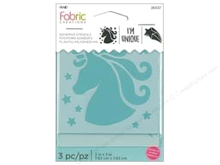 craft & hobbies: Plaid Fabric Creations Adhesive Stencils 3 x 3 in. Unicorn