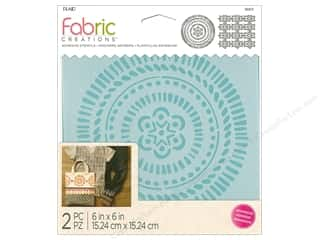 craft & hobbies: Plaid Fabric Creations Adhesive Stencils 6 x 6 in. Tribal