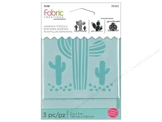Plaid Fabric Creations Adhesive Stencils 3 x 3 in. Cactus Picture
