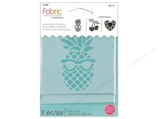 Plaid Fabric Creations Adhesive Stencils 3 x 3 in. Pineapple