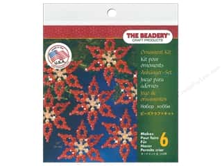 craft & hobbies: Beadery Craft Kit Ornament Poinsettia