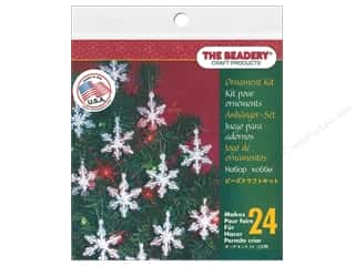 beading & jewelry making supplies: The Beadery Kit Ornament Mini Snowflake