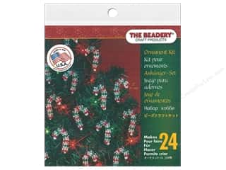 beading & jewelry making supplies: The Beadery Kit Ornament Mini Candy Cane