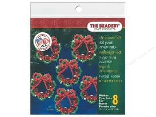 craft & hobbies: Beadery Craft Kit Ornament Cranberry Wreath