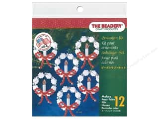 craft & hobbies: Beadery Craft Kit Ornament Frosted Candle Wreath