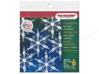 craft & hobbies: The Beadery Kit Ornament Snowflake Lt Sapphire