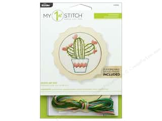 yarn: Bucilla Embroidery Kit Stamped 4 in. My 1st Stuck On You